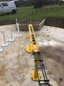 "Raised track 5"" gauge completed and 40 meters of dual gauge completed Well done again team."