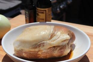 Marinate in Worcestershire sauce and liquid smoke