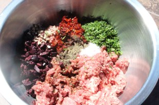 lamb burger mixture