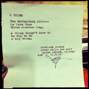"""""""A Thing"""" --Kathleen Rooney"""