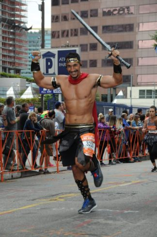 john running a half marathon