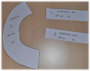 Pièces découpées dans du papier pour plus de visibilité