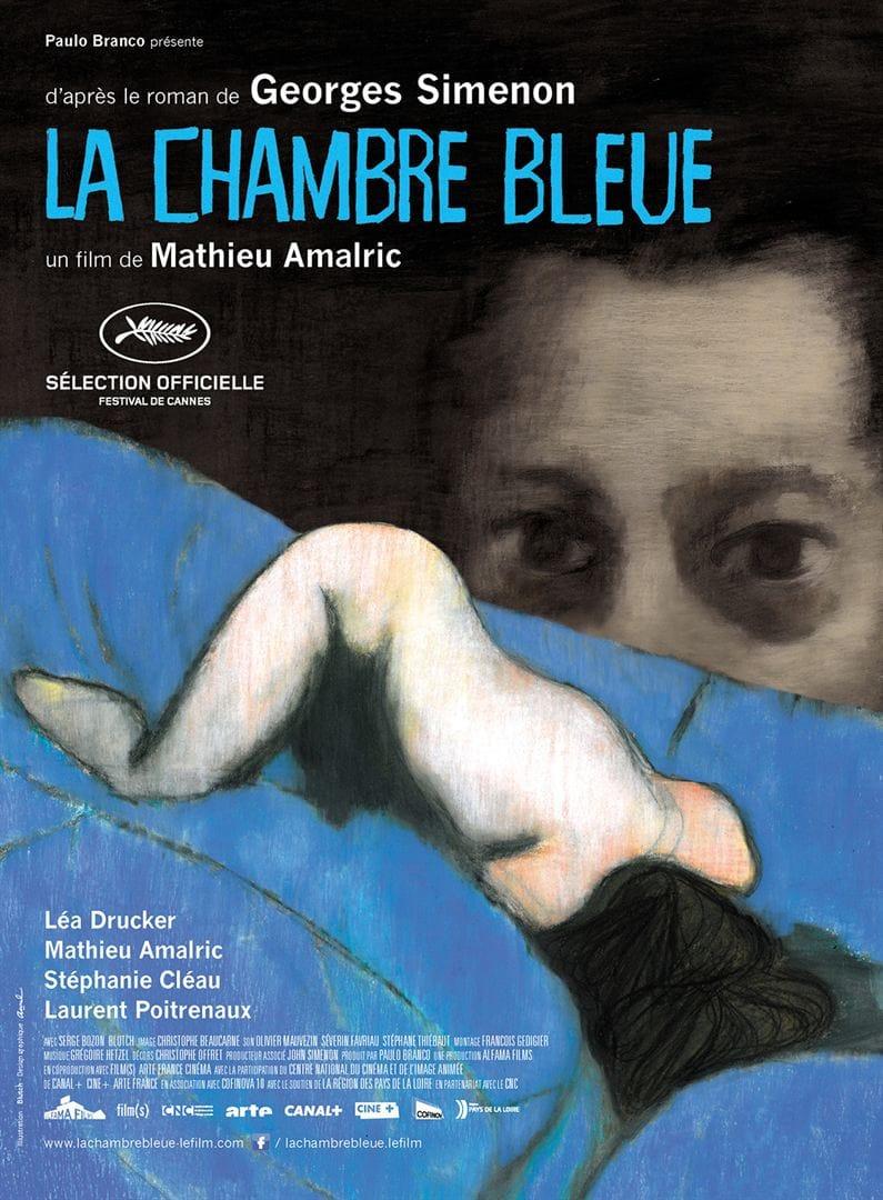 La Chambre bleue de Mathieu Almaric affiche film cinéma