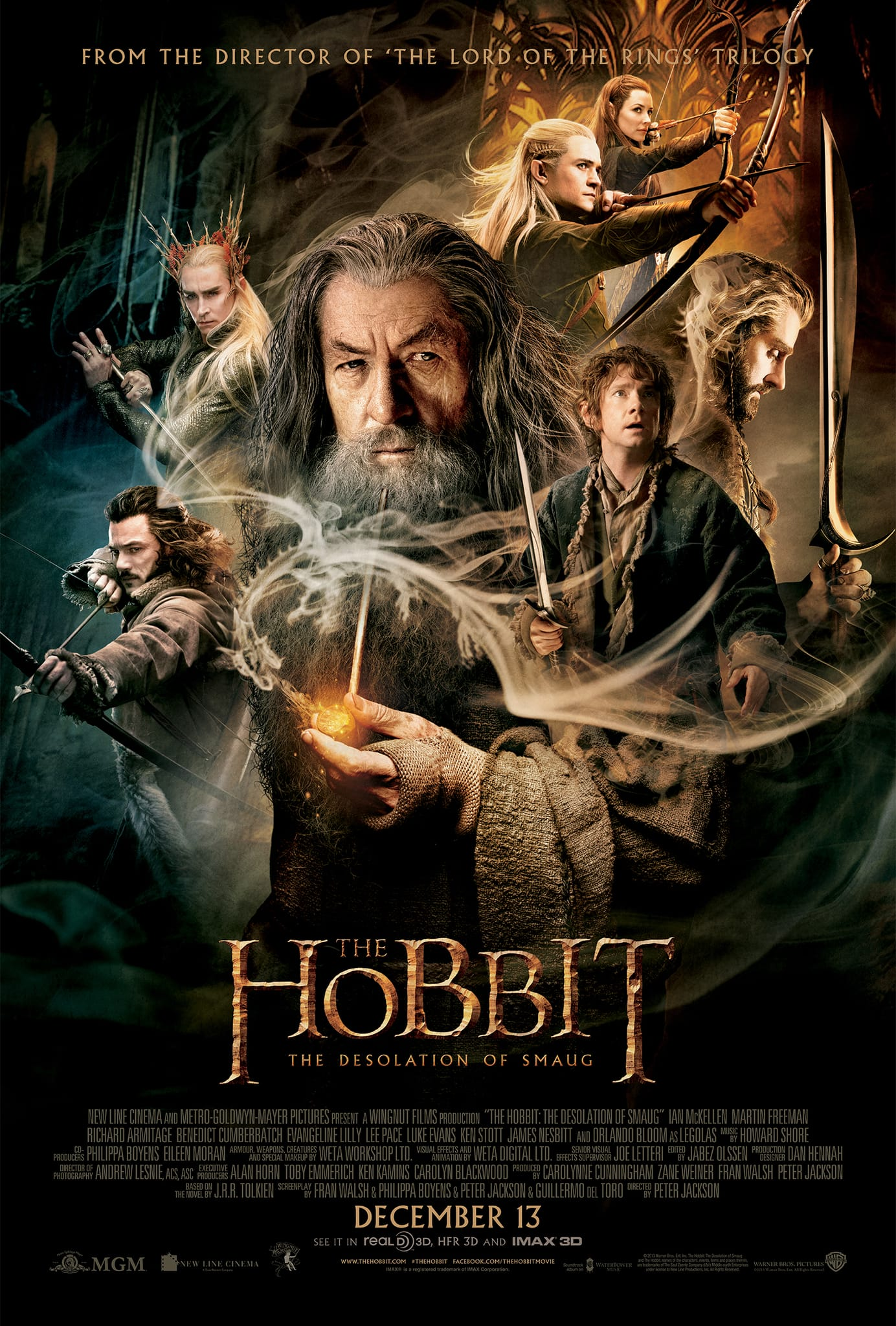 The Hobbit: The Desolation of Smaug by Peter Jackson poster film movie cinema