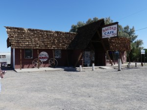 Bulles de voyages - Road 66 - Route 66 - Bagdad Café à Newberry Springs - USA - Etats Unis