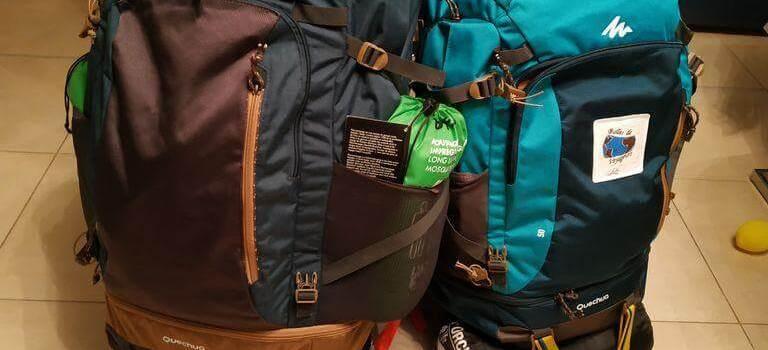 Nos sacs et nos équipements