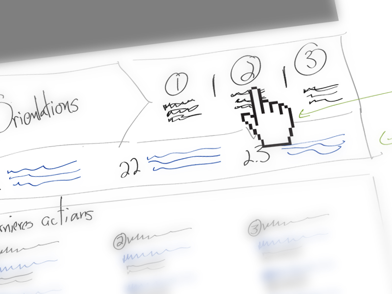 individual steps wireframe