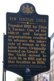 Historical Marker for New Century Guild