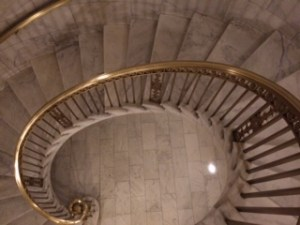 A staircase at the Supreme Court