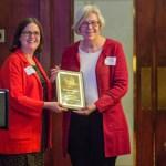Margaret Schilt receiving Lifetime Achievement Award