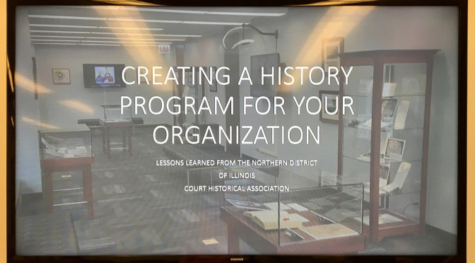 Recap: Creating a History Program For Your Organization