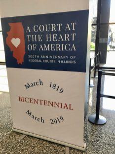 IL Federal Courts Bicentennial Lobby Sign