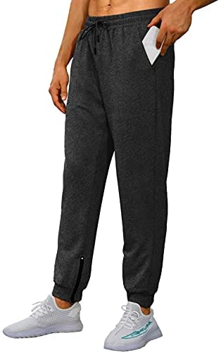 WIHOLL Mens Gym Jogger Pants with Back Pockets Slim Fit Lightweight Sweatpants for Running,Jogging,Training,Workout
