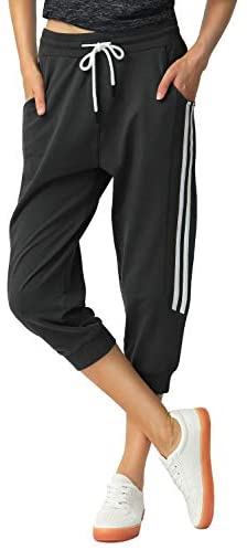 SPECIALMAGIC Capri Sweatpants for Women Casual Camo Cropped Joggers with Pockets Yoga Running