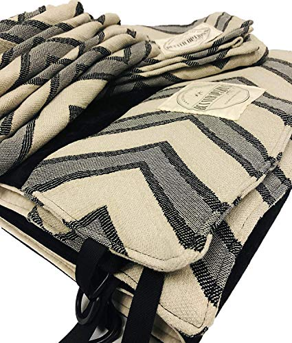 Keenz 7S Stroller Wagon Liner Set – Reversible Wagon Stroller Liner, Matching Blanket and Harness Covers – Machine Washable, Cotton Blend Wagon Padding – Wagon Stroller Accessory Set, Chevron