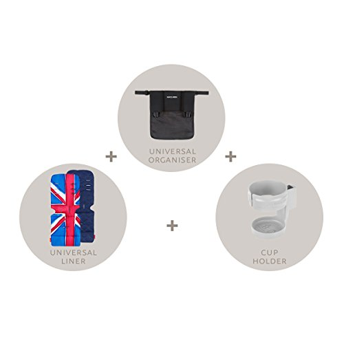 Maclaren Starter Kit- Essential Stroller Accessories to get You on Your Way. A Universal Organiser, Universal Seat Liner, Cupholder. Fits on All Maclarens and Most Umbrella-fold Stroller Brands.