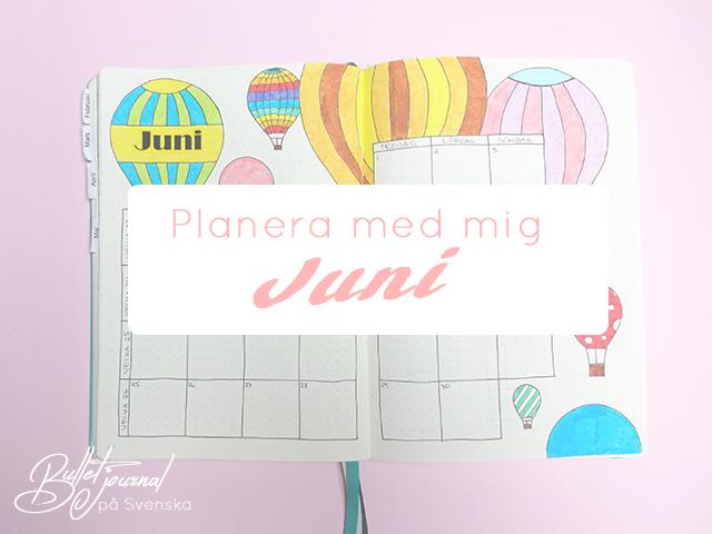 Planera med mig – Juni nr 1
