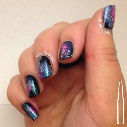 galaxy nails | @bulletnails