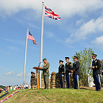 british and american flags photo