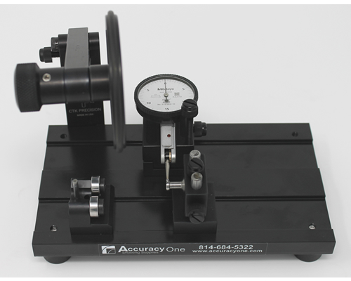 Neck Wall Uniformity Adapter on Concentricity Gauge