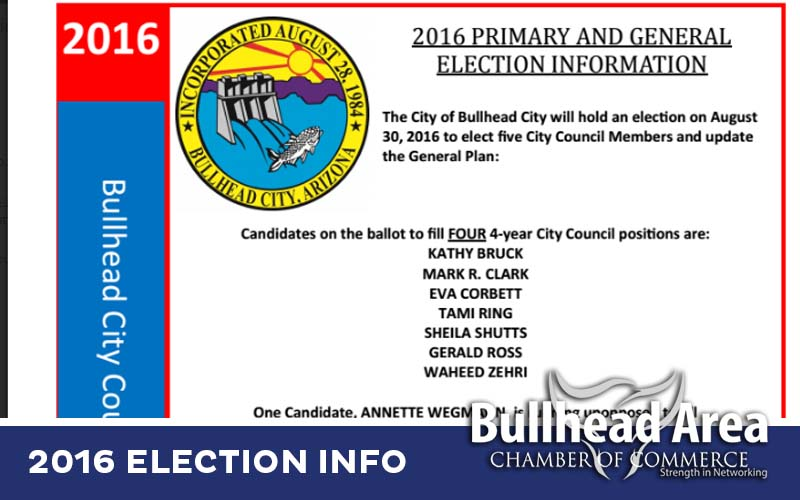 2016 PRIMARY AND GENERAL  ELECTION INFORMATION