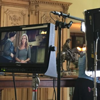 Producer Maria from Fleishman Hillard Public Relations eyes the monitor for a national PSA spot