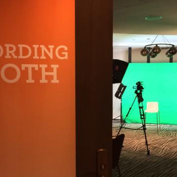 Green screen studio for Wells Fargo employee convention