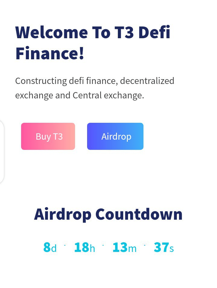 T3Coin Airdrop - Claim Free 200 T3 Tokens for Free