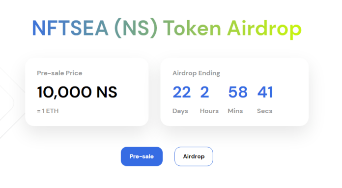 NFTSEA Airdrop - How to Claim NFTSEA tokens for FREE