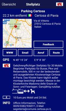 Info Parking Certosa