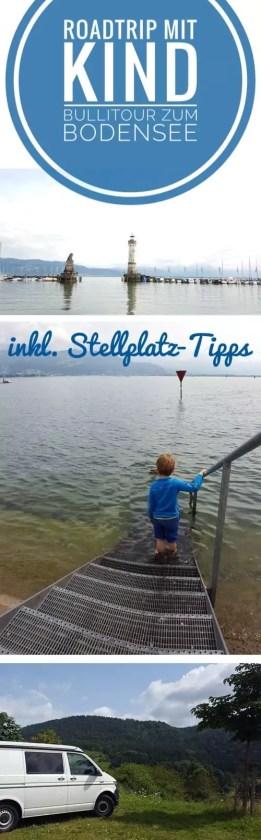 Mit Kind und VW-Bus zum Bodensee - Tourkarte, Tipps für Stellplätze