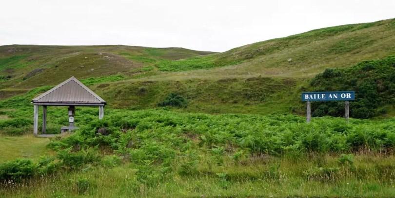 Goldwaschen in Schottland - Kildonan Burn, Baile an Or