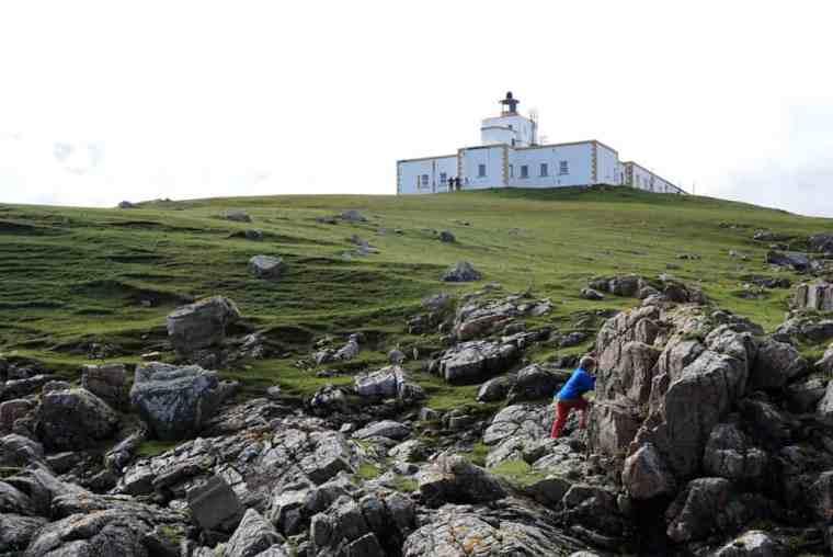 Strathy Point Lighthouse schottische Highlands