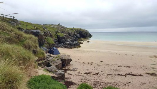Camping am Strand Schottland - Oldshoremore