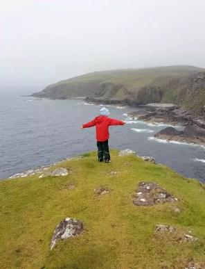Schottland mit Kind Stoer Head