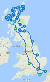 Schottland Roadtrip Überblick