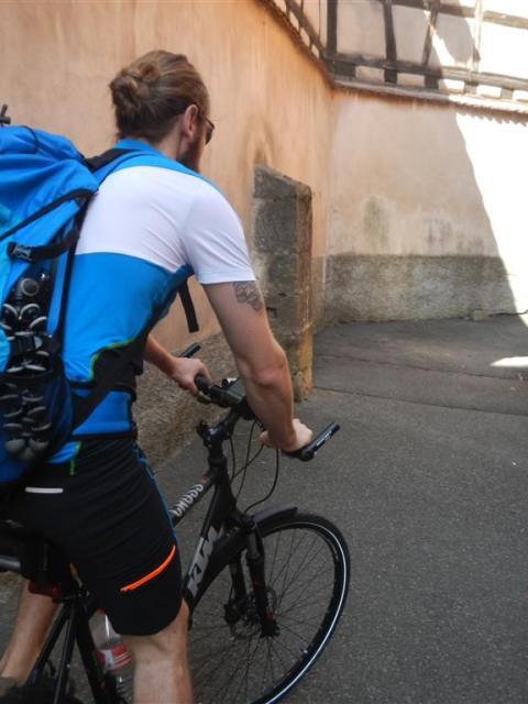 Radfahrer im Elsass