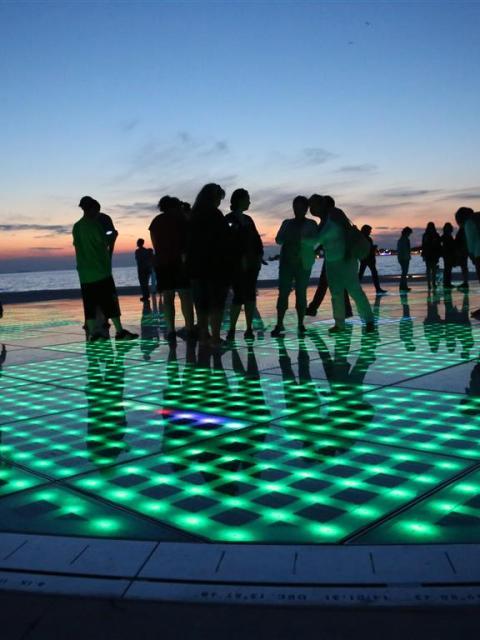 Zadar, Kroatien, Gruß an die Sonne