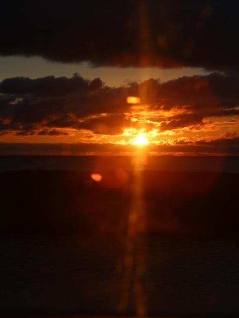 Sonnenuntergang an der Atlantikstraße