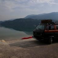 VW Bus am Caldonazzo See