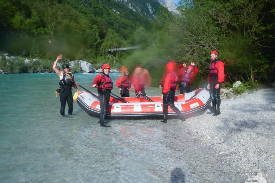 Rafting auf der Soca
