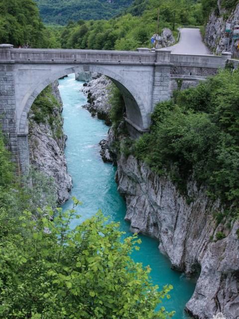 Die Napoleonbrücke in Kobarid