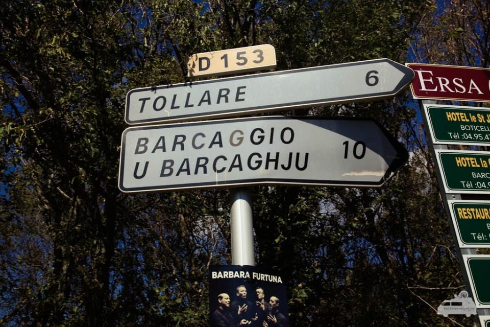 Hinweisschild zum Stellplatz Tollare