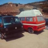 VW Bulli Parkplatz Capo Rosso
