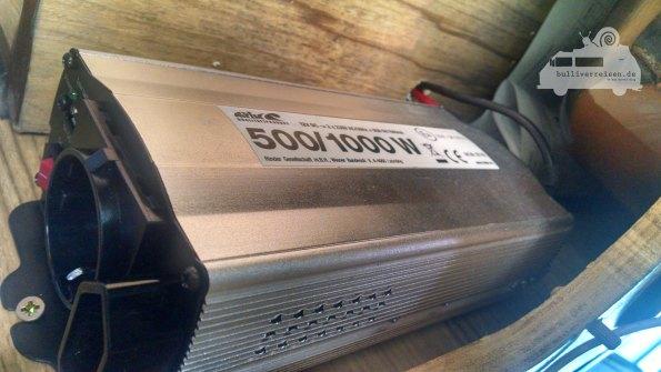 Stromversorgung für 220V Kühlschrank im Bulli
