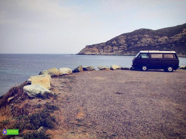 VW T3 Korsika Stellplatz am Meer