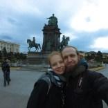 GoPro Selfe Maria Theresia Denkmal Wien
