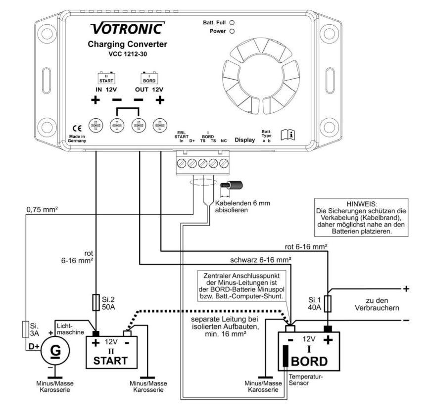 Votronic-Anschlussschema