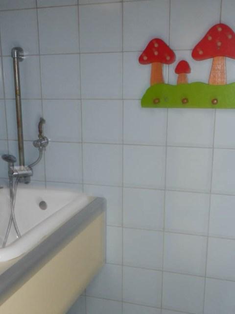 Es gibt sogar ein liebevoll eingerichtetes Kinderbad