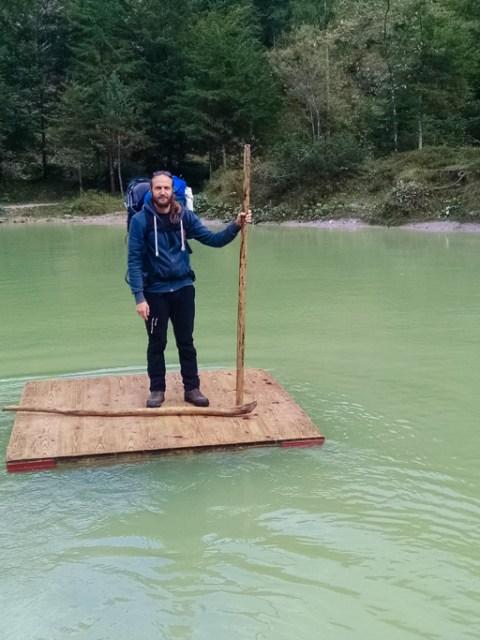 Badeteich an der Voderkaserklamm im Salzburger Land